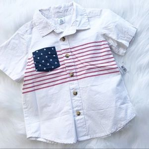 Old navy USA summer Button Down Top 3T NWT